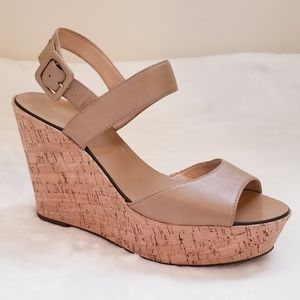 J.crew Cork Wedge Platform heel Sandals